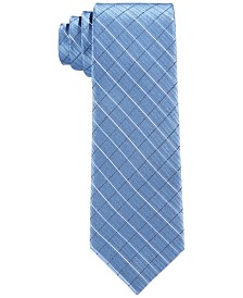Calvin Klein Big Boys Etched Grid Necktie