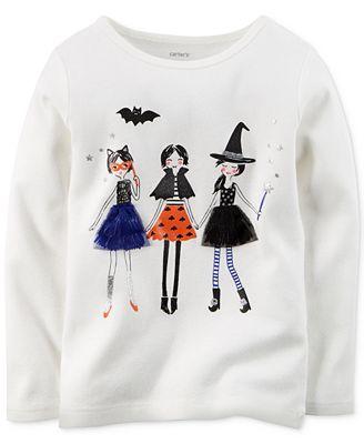 Carter's Little Girls' Halloween Girls Graphic T-Shirt