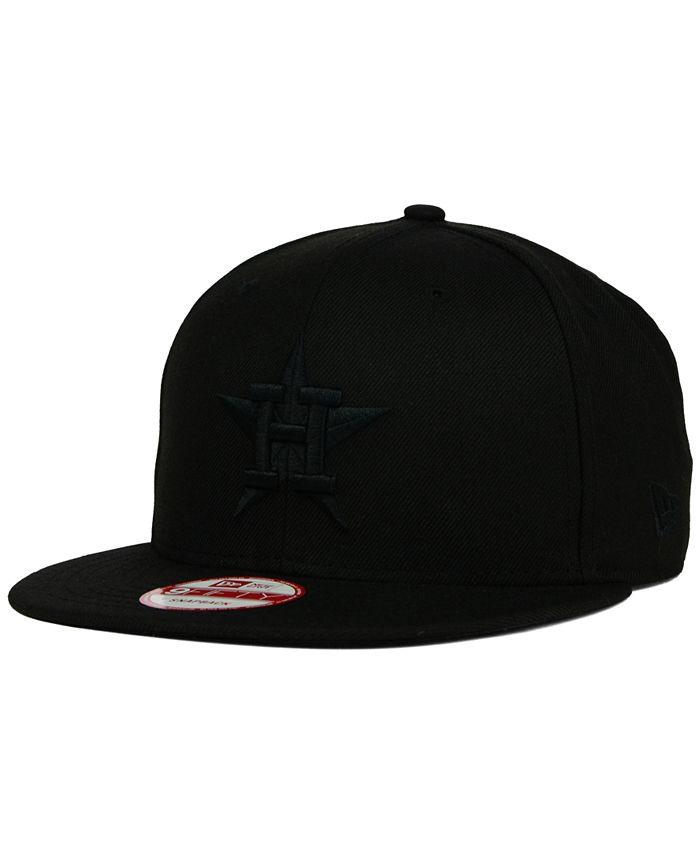 New Era - Houston Astros Black on Black 9FIFTY Snapback Cap