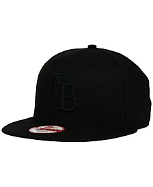Tampa Bay Rays Black on Black 9FIFTY Snapback Cap