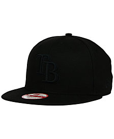 New Era Tampa Bay Rays Black on Black 9FIFTY Snapback Cap