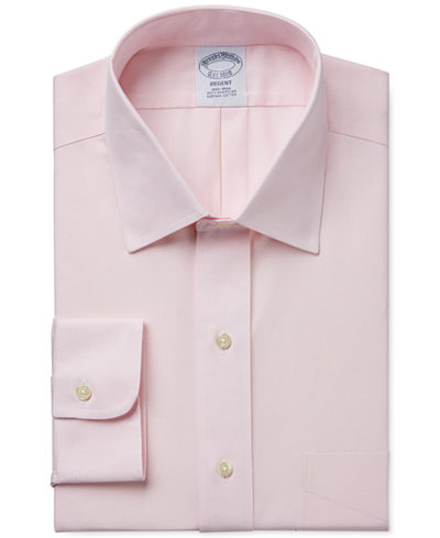 Brooks brothers regent classic fit non iron pinpoint solid for Brooks brothers non iron shirt review