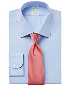 Brooks Brothers Milano Extra Slim-Fit Non-Iron Light Blue Dress Shirt and Repp Solid Tie