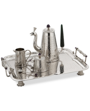 Michael Aram 20th Anniversary Collection Stainless Steel Mughal Garden Tea Set