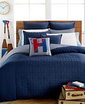 CLOSEOUT! Tommy Hilfiger Academy Navy Bedding