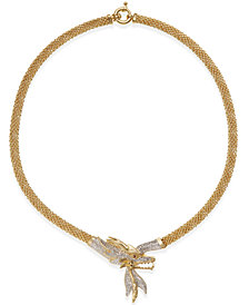Diamond Dragon Bypass Necklace (1-3/4 ct. t.w.) in 14k Gold over Sterling Silver