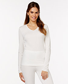 Cuddl Duds Softwear Lace Top