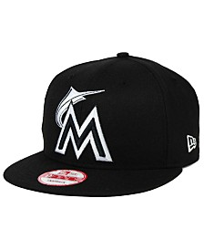 New Era Miami Marlins MLB Black White 9FIFTY Snapback Cap