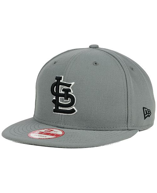 New Era St. Louis Cardinals Gray Black White 9FIFTY Snapback Cap