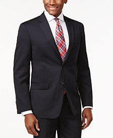 Tommy Hilfiger Solid Navy Modern-Fit Jacket