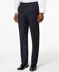 Navy Modern-Fit Tuxedo Pants