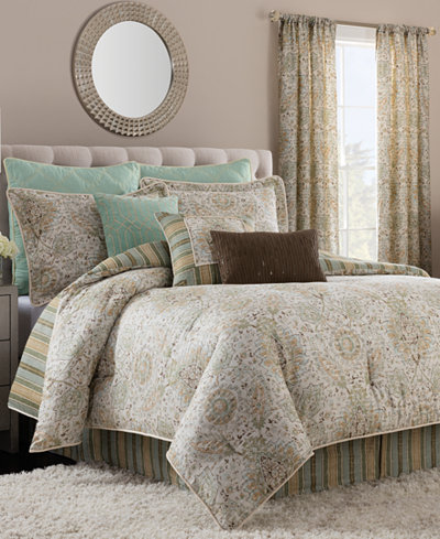 savannah home cadogan king comforter set bedding collections bed bath macy 39 s. Black Bedroom Furniture Sets. Home Design Ideas