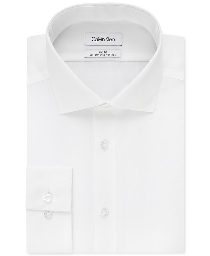 Calvin Klein - STEEL Men's Slim-Fit Non-Iron Performance Solid Dress Shirt