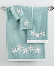 "Avanti Sequin Shells 11"" x 18"" Fingertip Towel"