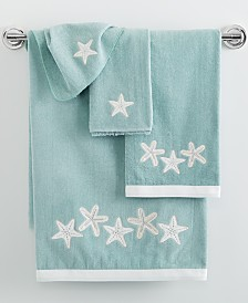 Avanti Sequin Shells Bath Towel Collection