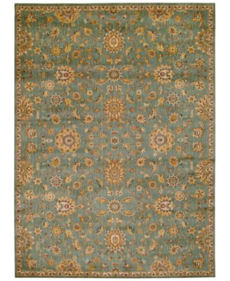 """Home Ancient Times Ancient Treasures Teal 3'9"""" x 5'9"""" Area Rug"""