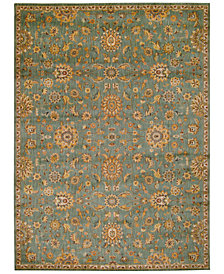 "kathy ireland Home Ancient Times Ancient Treasures Teal 5'3"" x 7'5"" Area Rug"
