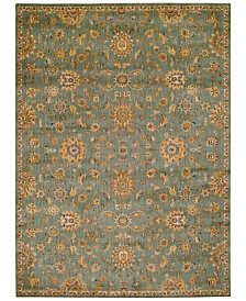 """kathy ireland Home Ancient Times Ancient Treasures Teal 5'3"""" x 7'5"""" Area Rug"""