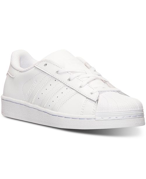 adidas Little Boys' Superstar Casual Sneakers from Finish