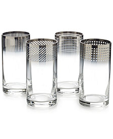 Mikasa Cheers Collection Metallic Ombré Highball Glasses, Set Of 4