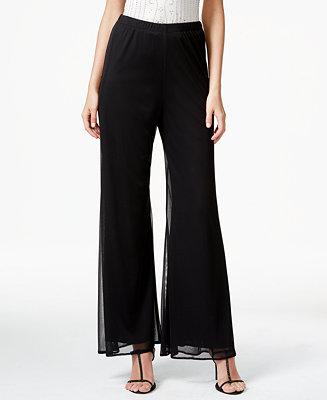 MSK Petite Wide-Leg Chiffon Pants - Dresses - Petites - Macy's