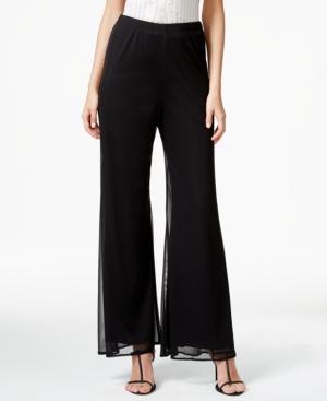 Retro Pants & Jeans Msk Petite Wide-Leg Chiffon Pants $49.00 AT vintagedancer.com
