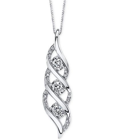 Sirena Diamond Twist Pendant Necklace (5/8 ct. t.w.) in