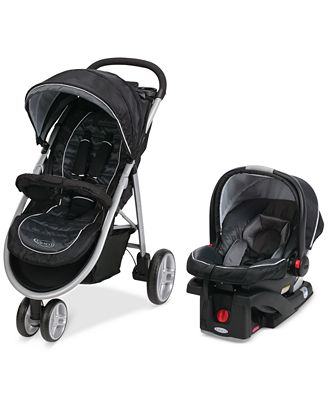 graco baby click connect aire3 stroller snugride 35 infant car seat travel system baby. Black Bedroom Furniture Sets. Home Design Ideas