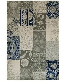 "JHB Design  Tidewater  Patchwork Ivory/Grey 3'10"" x 5'5"" Area Rug"
