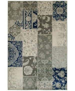 "Oriental Weavers Richmond Patchwork Ivory/Grey 6'7"" x 9'6"" Area Rug"