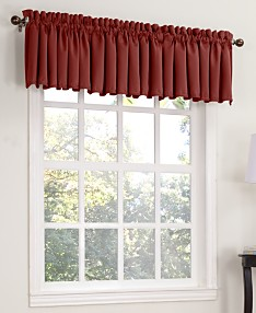 Red Tab Top Kitchen Curtains - Macy\'s