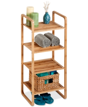 HoneyCanDo 4Tier Bamboo Accessory Shelf