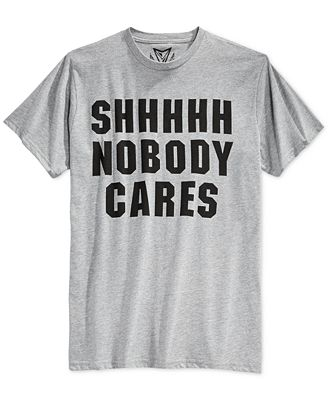 Univibe Men's SHHHHH Nobody Cares T-Shirt