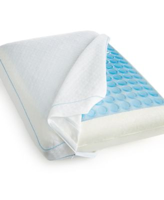 CLOSEOUT! Luxury Gusseted Standard Pillow, Pressure Relief Memory Foam, Cooling Gel Overlay