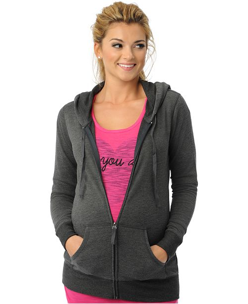 d7dd04426b80ad Motherhood Maternity French Terry Zip Front Hoodie & Reviews ...