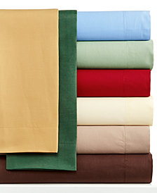 CLOSEOUT! Solid Sheet Sets, 220 Thread Count, Created for Macy's