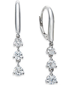 Diamond Triple Drop Earrings (1 ct. t.w.) in 14k White Gold