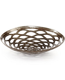 Heart of Haiti Recycled Metal Round Chrysanthemum Bowl