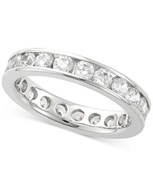 Diamond Channel Set Eternity Band (2 ct. t.w.) in 14k White Gold