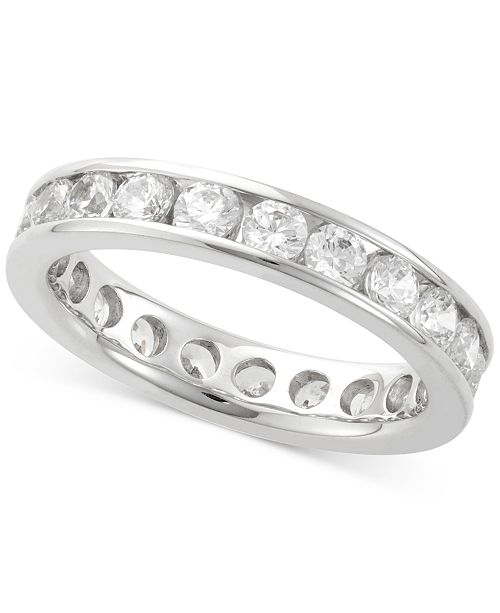 Macy's Channel Set Diamond Eternity Bands in 14k White Gold (1/2 - 3 ct. t.w.)
