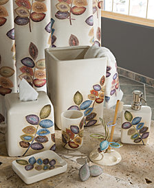 Croscill Bath, Mosaic Leaves Bath Accessories