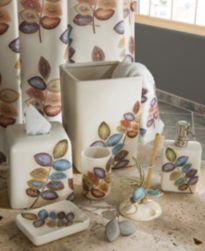 Croscill Bath, Mosaic Leaves Bath Accessories