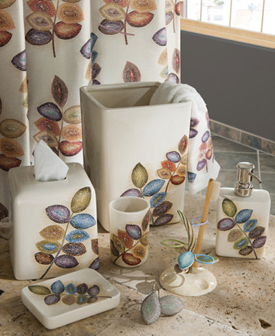 Croscill Bath, Mosaic Leaves Accessories