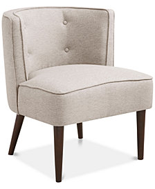 Makenzie Button Tufted Curved Back Chair, Quick Ship