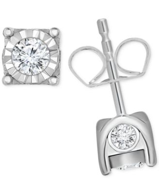 Image of TruMiracle® Diamond Stud Earrings (3/8 ct. t.w.) in 14k Gold, White Gold or Rose Gold