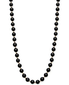 Onyx Bead Necklace (8mm) in 10k Gold