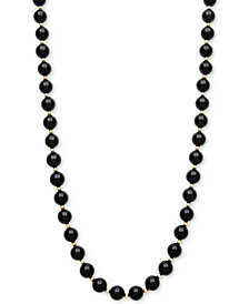 Onyx Bead Necklace (3mm) in 10k Gold