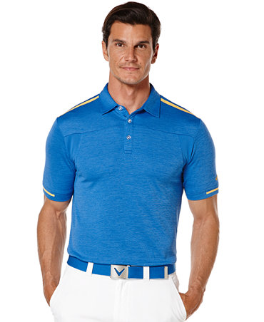Callaway big and tall golf performance heathered for Large tall golf shirts