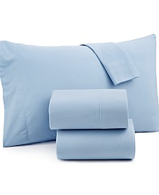 Micro Flannel Solid California King 4-pc Sheet Set