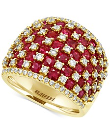 EFFY® Ruby (4-1/2 ct. t.w.) and Diamond (1-1/4 ct. t.w.) Ring in 14k Gold, Created for Macy's